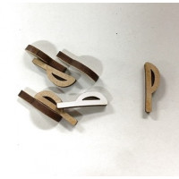 Letra adhesiva manuscrita madera DM - Mayusculas 2 cm - Letra P