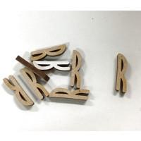 Letra adhesiva manuscrita madera DM - Mayusculas 2 cm - Letra R
