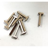 Letra adhesiva manuscrita madera DM - Mayusculas 2 cm - Letra T