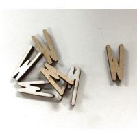Letra adhesiva manuscrita madera DM - Mayusculas 2 cm - Letra W