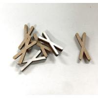 Letra adhesiva manuscrita madera DM - Mayusculas 2 cm - Letra X