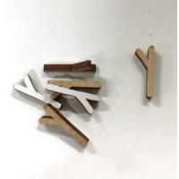 Letra adhesiva manuscrita madera DM - Mayusculas 2 cm - Letra Y