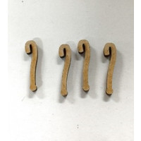 Letra manuscrita madera DM - Tamaño 2 cm - Simbolo ?