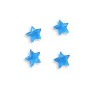 Colgante mini estrella de plexy cristal blue  7 mm ( para combinar con las nubes PXC-101) - 1 unidad