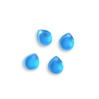 Colgante mini gota de plexy cristal blue 7 mm ( para combinar con las nubes PXC-101) - 1 unidad