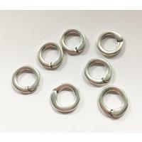 Entrepieza Zamak baño plata anilla cerrada 13 mm, int 10x7 mm