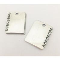 Colgante Zamak baño plata placa ideal grabar Libreta 40x30 mm