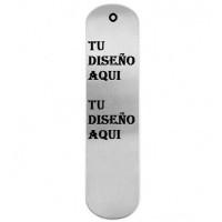 Marcapaginas de aluminio 15x3.8 cm - Grabado a 1 cara