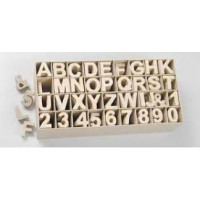 Letras de carton 5x4.5x2 cm para decorar con tecnicas Scrap Q