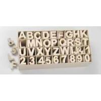 Letras de carton 5x4.5x2 cm para decorar con tecnicas Scrap &