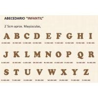 Letras scrap- DM- 2.5 cm- Modelo INFANTIL- Letra M