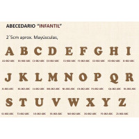 Letras scrap- DM- 2.5 cm- Modelo INFANTIL- Letra N