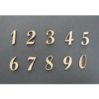 Numeros madera DM adhesiva- Numeros- 2 cm 0
