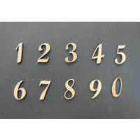 Numeros madera DM adhesiva- Numeros- 2 cm 9