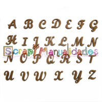 Letras madera DM adhesiva- Mayuscula para enlazadas- 2 cm H