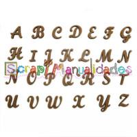 Letras madera DM adhesiva- Mayuscula para enlazadas- 4 cm H