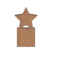 Marcapaginas  punto libro DM 3.5x20 cm- Modelo 10 ( estrella)