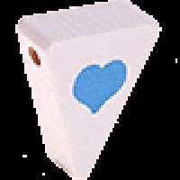 Figurita PREMIUM-  Banderin corazon 20x25x8 mm - Blanco/celeste