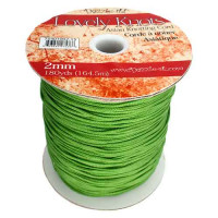 Cordon macrame Lovely Knots 2 mm - Verde - 1 metro