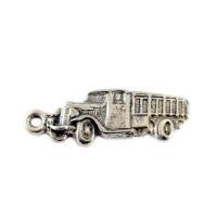 Colgante ZAMAK baño plata camion 43x15 mm, anilla int 3 mm