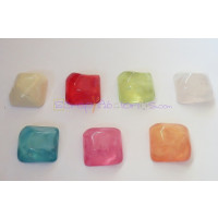 Piedra resina Aguas blancas 24 mm - Color Blanco