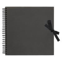 Papermania - Album libreta cuaderno 30x30 cm Negro- 40 pgs