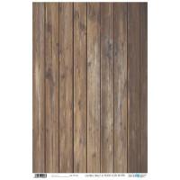Papel cartonaje 32x48.3 cm- Panel madera natural oscura PFY-1026