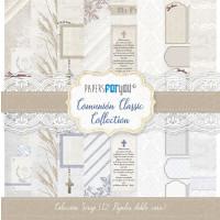 Bloc papel scrap 30x30 cm - Papers4you- Comunión Clasica - 12 papel