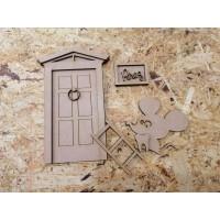 Kit siluetas de madera para puerta del Raton Perez 1