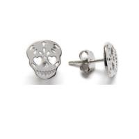 Calaveras 10 mm - Pendiente plata de ley (1 par)