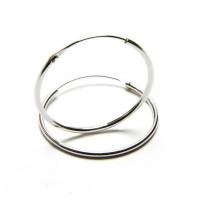 Pendiente plata de ley - Aro liso 12 x 1,2 mm (1 par)