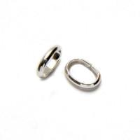 Anilla oval Plata de Ley 925 , 7x5 mm, grosor 1.4 mm