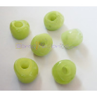 Pepita Irregular aguas blancas 18x12 mm, Int 5,5 mm - Color pistacho