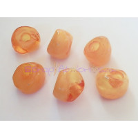 Pepita Irregular aguas blancas 18x12 mm, Int 5,5 mm - Color naranja