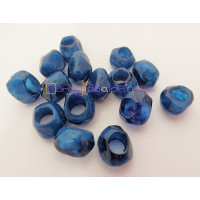 Pepita Irregular aguas blancas 11x10 mm. Taladro 5,5 mm - Color azul