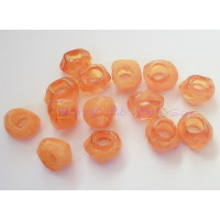 Pepita Irregular aguas blancas 11x10 mm. Taladro 5,5 mm - Color naranja