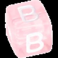 Cubo letras 10x10 mm acrilico colores - Letra B