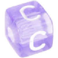 Cubo letras 10x10 mm acrilico colores - Letra C