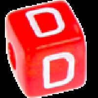 Cubo letras 10x10 mm acrilico colores - Letra D