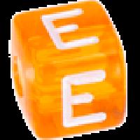 Cubo letras 10x10 mm acrilico colores - Letra E
