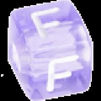 Cubo letras 10x10 mm acrilico colores - Letra F