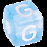 Cubo letras 10x10 mm acrilico colores - Letra G