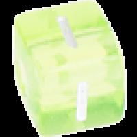 Cubo letras 10x10 mm acrilico colores - Letra I