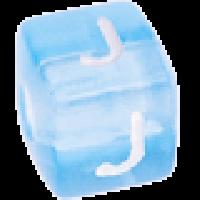 Cubo letras 10x10 mm acrilico colores - Letra J
