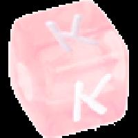 Cubo letras 10x10 mm acrilico colores - Letra K