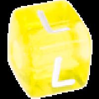 Cubo letras 10x10 mm acrilico colores - Letra L