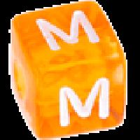 Cubo letras 10x10 mm acrilico colores - Letra M