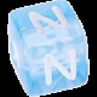 Cubo letras 10x10 mm acrilico colores - Letra N