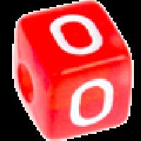 Cubo letras 10x10 mm acrilico colores - Letra O