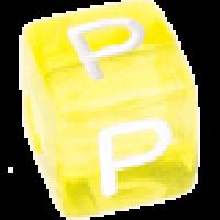 Cubo letras 10x10 mm acrilico colores - Letra P